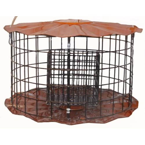 Double Suet Cake Feeder with Barrier Guard