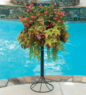 "Pamela Crawford 16"" Basket & Patio Stand Kit"